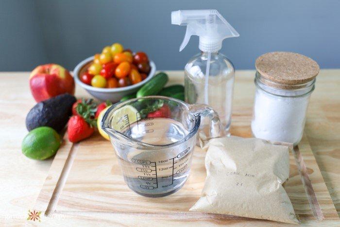 veggie wash ingredients